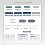 Modern user interface screen template kit for Stock Photos