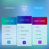 Modern user interface screen template for mobile Stock Images