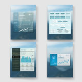Modern user interface screen template for mobile Royalty Free Stock Photos