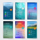 Modern user interface screen template for mobile vector illustration