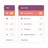 Modern user interface screen template for mobile Royalty Free Stock Images