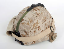 Modern USMC LWH combat helmet. The modern USMC Marine Corps Lightweight Combat Helmet LWH used in Afghanistan and Iraq Stock Images