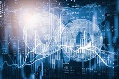 Modern väg av utbytet Bitcoin är lämplig betalning i globalt Arkivbild