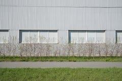Modern vägg för grå siding Royaltyfri Fotografi