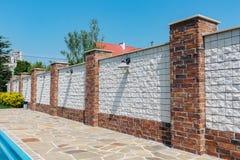modern vägg för tegelsten Arkivbild
