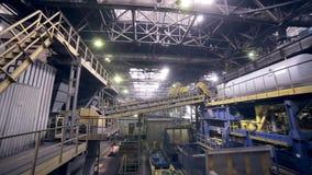 Modern växt på en tung industriell fabrik lager videofilmer
