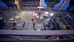 Modern växt på en tung industriell fabrik arkivfilmer