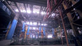 Modern växt på en tung industriell fabrik stock video