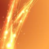 Modern våg för ljus hastighet för gnistrandeabstrakt begreppswoosh Arkivfoto