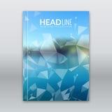 Modern vaag van het kuststrand Vectormalplaatje als achtergrond voor Bedrijfsbrochure, Rapport, Affiche, Banner of Vliegerontwerp Royalty-vrije Stock Afbeelding