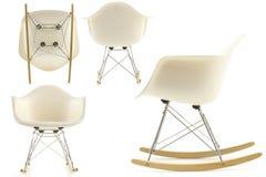 modern vaggande set för stol Arkivbilder