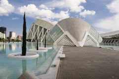 Modern Valencia. Daytime MW shot of the Hemisphere (IMax) in Valencia Spain - City of Arts & Sciences Stock Image