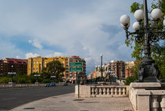 Modern Valencia Spain. View parks Stock Photography