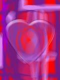 Modern Valentine design. Modern painterly Valentine design with a transparent heart on a fingerprint Royalty Free Stock Photography