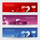 Modern valentine's day banners Stock Image