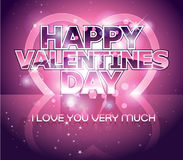 Modern Valentine's day letter greeting background Royalty Free Stock Image