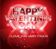 Modern Valentine's day letter greeting background Royalty Free Stock Photos