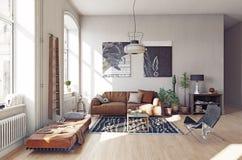 Modern vardagsrum I Royaltyfria Foton
