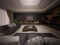 Modern vardagsrum i minimalismstil vektor illustrationer