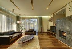Modern vardagsrum - materielbild Royaltyfri Foto
