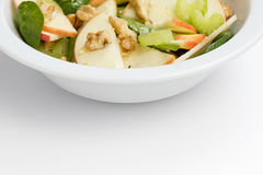 Modern variation of waldorf salad Royalty Free Stock Photos