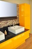 modern vask för badrum royaltyfri foto