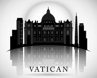 Modern Vatican City Skyline Design Royalty Free Stock Images