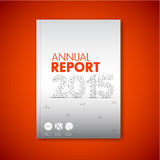 Modern Vector abstract annual report design template Stock Image
