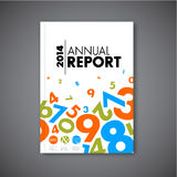 Modern Vector abstract annual report design template Royalty Free Stock Images