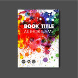 Modern Vector abstract book cover template Stock Photography