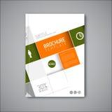 Modern Vector abstract brochure/boek/vliegerontwerpmalplaatje Royalty-vrije Stock Fotografie