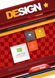 Modern Vector abstract brochure. Royalty Free Stock Photos