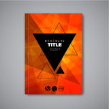 Modern Vector abstract brochure / book / flyer design template Stock Image