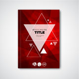 Modern Vector abstract brochure / book / flyer design template stock illustration