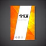 Modern Vector abstract brochure / book / flyer design template Royalty Free Stock Photos
