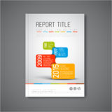 Modern Vector abstract brochure design template Stock Photography
