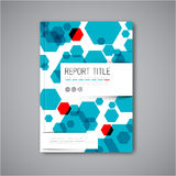 Modern Vector abstract brochure design template Stock Photos