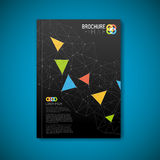 Modern Vector abstract brochure design template Royalty Free Stock Photography