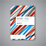 Modern Vector abstract brochure design template Royalty Free Stock Photo