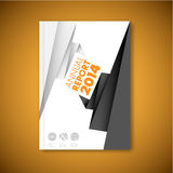 Modern Vector abstract brochure design template Royalty Free Stock Photos
