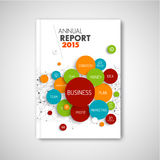 Modern Vector abstract brochure / report  business template Stock Images