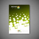 Modern Vector abstract brochure report design template Stock Image