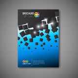 Modern Vector abstract brochure report design template Stock Photo