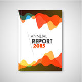 Modern Vector abstract brochure / report design template Royalty Free Stock Photos