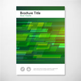 Modern Vector abstract brochure report design template Royalty Free Stock Photo