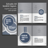 Modern Vector abstract brochure, report or flyer Stock Images