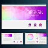 Modern Vector abstract brochure, report or flyer design template Royalty Free Stock Photos