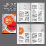 Modern Vector abstract brochure, report or flyer Royalty Free Stock Photos