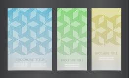 Modern vector abstract brochure Royalty Free Stock Photos