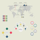 Modern vector abstract infographic elements. Business Infographics . Vector illustration. can be used for workflow layout, banner, diagram, number options, step Royalty Free Stock Photo